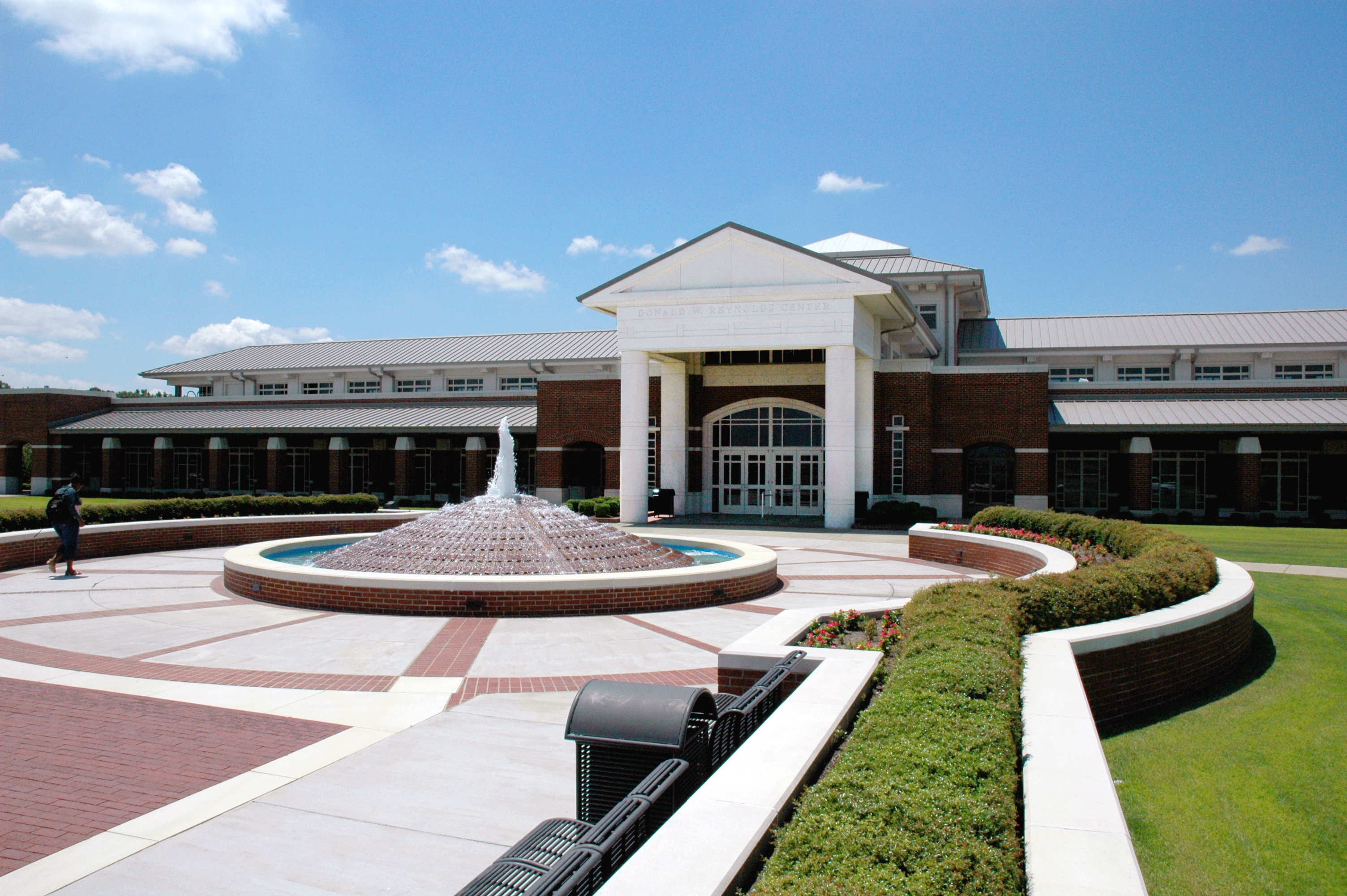 Reynolds Center with fountain
